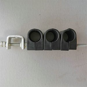 Feeder cable clamp with Three stacks one holes