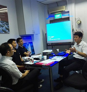Singapore customer visit us for factory training